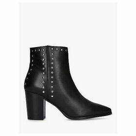 Carvela Super Leather Studded Boots, Black