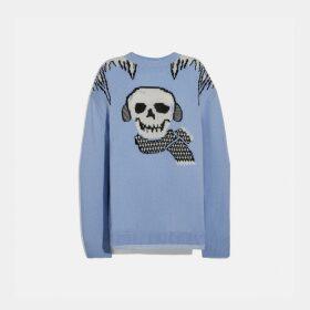 Coach Bonesy Intarsia Sweater