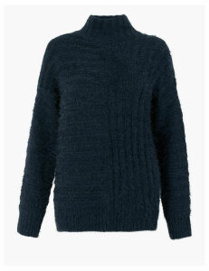M&S Collection Textured Chenille Relaxed Jumper