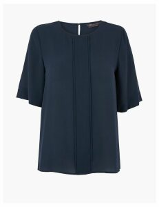 M&S Collection Pleat Front Blouse