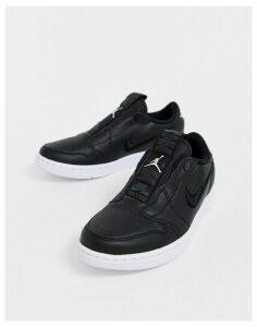 Nike Air Jordan 1 Retro Black Low Slip On Trainers
