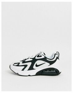 Nike white and black Air Max 200 trainers