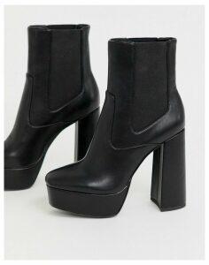 Public Desire Lexi platform ankle boots in black