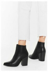 Womens Save Your Sole Faux Leather Ankle Boots - black - 8, Black