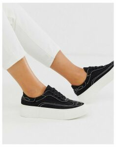 ASOS DESIGN Doodle western embroidered trainers in black