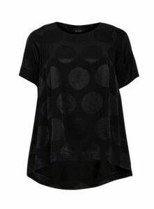 Boutique Black Polka Dot Top, Black