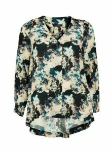 Boutique Cream Marble Print Shirt, Bright Multi