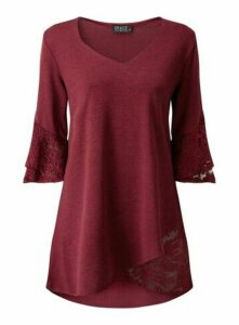 **Grace Red Lightweight Tunic Jumper, Berry