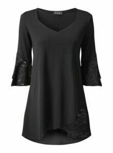 **Grace Black Lightweight Tunic, Black