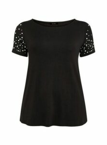 Black Pearl Sleeve T-Shirt, Black