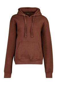 Womens Tall Solid Oversized Hoody - brown - S/M, Brown