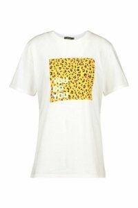 Womens Tall 'You Do You' Slogan T-Shirt - white - M, White