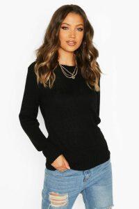 Womens Tall Soft Knit Jumper - black - M, Black