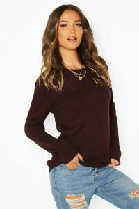 Womens Tall Soft Knit Jumper - brown - XL, Brown