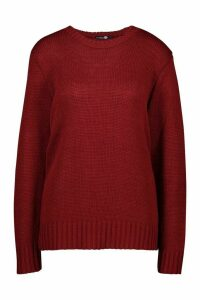 Womens Tall Soft Knit Jumper - red - XL, Red