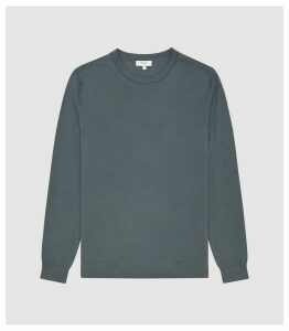Reiss Wessex - Merino Wool Jumper in Pewter, Mens, Size XXL