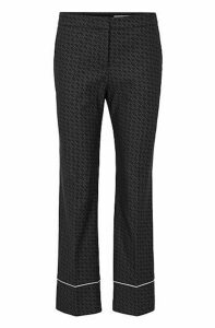 Relaxed-fit trousers with all-over monogram pattern