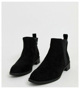 Simply Be wide fit Chelsea boots in black suede