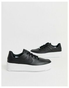 Nike Black Air Force 1 Sage Low Trainers