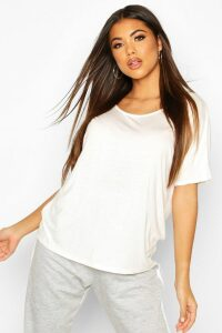 Womens Basic Oversized T-Shirt - white - 16, White