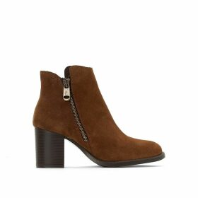 Titou Heeled Leather Ankle Boots