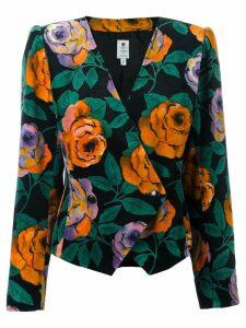 Emanuel Ungaro Pre-Owned floral blazer - Black