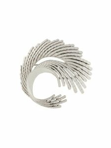 Trifari Vintage 1960s abstract feather brooch - SILVER