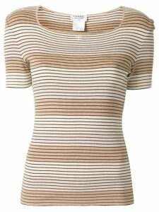 Chanel Pre-Owned 1998 striped T-shirt - Brown