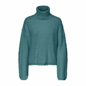 Polo Neck Jumper in Fine Knit