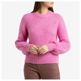 Mossy Knit Sweater with Ballon-Sleeves