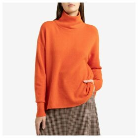 Damsville Roll-Neck Jumper in Chunky Knit