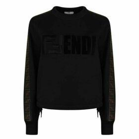 Fendi Logo Cropped Sweatshirt