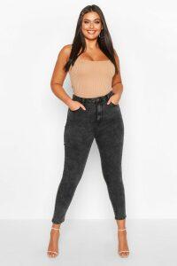 Womens Plus High Waist Skinny Jean - Grey - 24, Grey