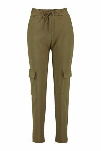 Womens Cargo Pant With Side Stripe And Pocket - green - M/L, Green