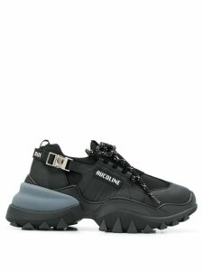 RUCOLINE Sport Lycra low-top sneakers - Black