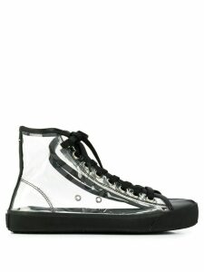 Maison Margiela transparent Tabi high-top sneakers - Black