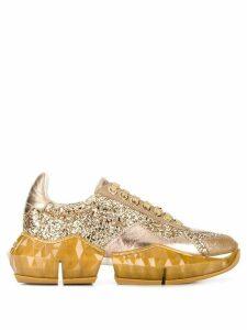 Jimmy Choo Diamond glitter sneakers - Gold