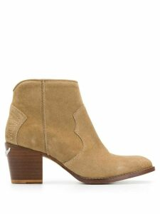 Zadig & Voltaire Molly suede ankle boots - NEUTRALS