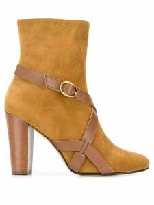 Michel Vivien buckle strap ankle boots - Brown