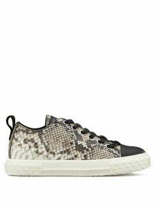 Giuseppe Zanotti snake print sneakers - Black