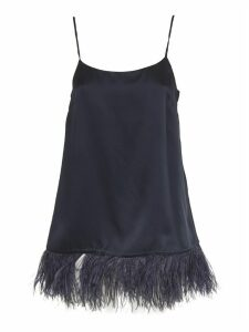 SEMICOUTURE Blue Top With Feathers