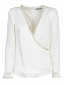 self-portrait White Long Sleeves Top With Sequins