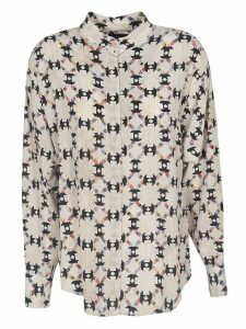 Isabel Marant All-over Print Pleated Shirt