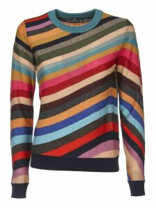 Multicolor Pullover With Swirl Inlay