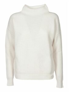 Turtleneck Pullover In Ivory Color
