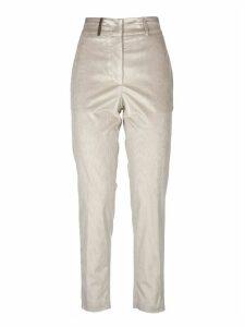 Pme Trousers In Dove Color Corduroy