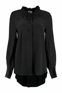 LAutre Chose Crêpe-silk Shirt