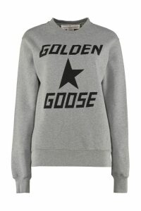 Golden Goose Higanbana Logo Print Cotton Sweatshirt