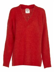SEMICOUTURE Red Long Sweater