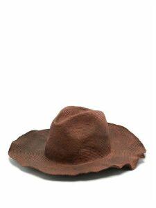 Reinhard Plank Hats - Bonica Cotton-straw Hat - Womens - Burgundy Multi